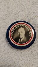 reproduction Roosevelt for president campaign button