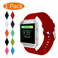 3 Pack Silicone Replacement Band For Fitbit Blaze Watch Large White Black Red