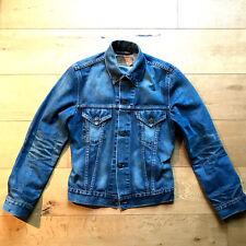 Autentico Levis Giacca di Jeans | CAMIONISTA | Slim Fit | Lavato Vintage Taglia Small