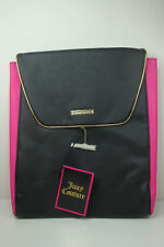 Juicy Couture Hot Pink & Black BACKPACK / TRAVEL BAG NEW With Tag