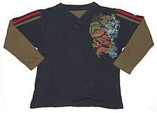 Boys navy blue khaki l/s cotton t shirt sz 8 NEW bnwt