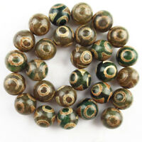 8mm Excellent Tibet Agate Heaven Eye Round Ball Loose bead 15.5inch  NN326