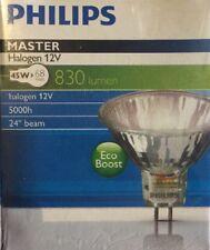5 x Philips Master 45w Eco Boost lámparas halógenas GU5.3 3000K (A4)