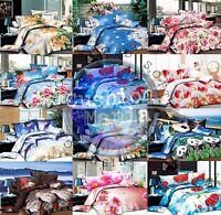 King Size Duvet Cover set 3D Quilt Cover set 3 Pcs Bedding 55 GSM