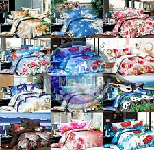 Duvet Cover set 3D Quilt Cover set 3 Pcs Bedding Animal Floral Rose 55 GSM