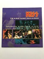 "Kiss Tears Are Falling Heavens On Fire 12 Inch Vinyl "" 3 Track"" NM/NM"