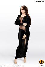 Black Dress Model Tym-20 Long Skirt Suit For 1/6 Scale Female Action Figure