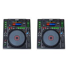 2x GEMINI MDJ-900 PRO DJ MEDIA TURNTABLE DECK WITH USB/MP3 AND MIDI CONTROL