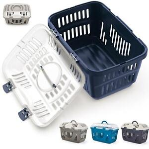 Cat Carriers Dog Puppy Basket Bag Cage Portable Travel Pet Kennel Training Box