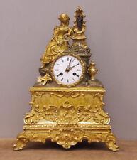 Orologio in bronzo dorato al mercurio, movimento a filo, fine '800 - H 37 cm!