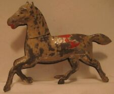 Old Miniature German Painted Tin Penny Toy Running Horse for Pull Cart - Part