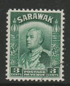 Sarawak 1934-41 3c Green SG 108a Fine used.