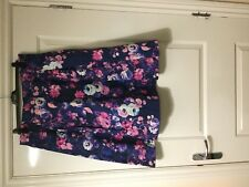 Sophie Gray at BHS Blue/Pink Floral Skirt Size 18 BNWT £35