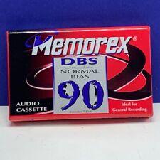 Memorex blank audio cassette DBS 90 minute vintage sealed new recording music 15