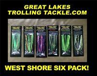 Pro King Regular Trolling Spoons Four Pack Salmon Trout Great Lakes Orange
