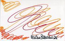 007 Bond girl Martine Beswick signed & drawn art doodle No56