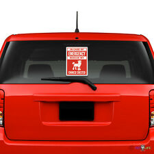 In Case of Emergency Rescue My Chinese Crested Windshield Sticker #2 dog puff