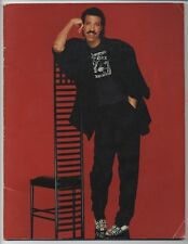Lionel Richie - Japan Tour 1987 JAPAN PROGRAM with TICKET STUB May 14-23 1987
