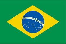Bandiera del Brasile con cupola 3D Decal Sticker set 2,8/x 2,5/cm