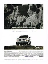 PUBLICITE ADVERTISING  2002   JEEP CHEROKEE