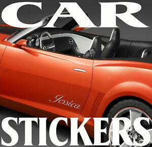 CUSTOM PERSONALISED VINYL NAME STICKERS FOR CAR OR VAN Body,Glass,Door Graphics