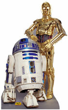 R2-D2 AND C-3PO C-3P0 STAR WARS LIFESIZE CARDBOARD STANDUP STANDEE CUTOUT POSTER