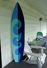 6 Foot Wood Hawaiian Surfboard Wall Art Decor or Headboard kids room wave
