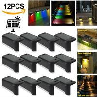 8/12x LED Solar Powered Deck Lights Outdoor Step Lamp Garden Pathway Fence Light