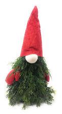 Gnomo natalizio con rami albero natale artificiali peluche con cappello guanti