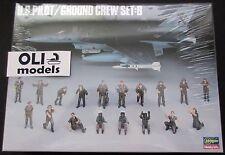 1/48 US Pilot & Ground Crew Figures Set: B - Hasegawa X48-5/36005
