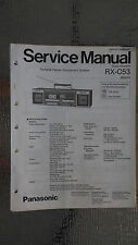 Panasonic rx-c53 Service Manual Original Repair boombox ghettoblaster tape deck