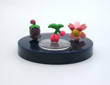 """Pokemon 1/40 scale zukan Cherubi Cherrim action figure toy Japan set 1"""" mini"""