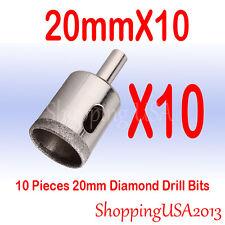 10 Pcs 20mm Diamond Tool Drill Bits Set Hole Saw Cutter Glass Marble Ceramic@@