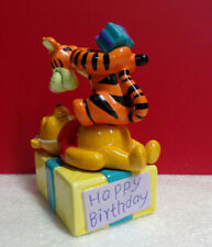 As Is Winnie the Pooh Happy Birthday Tigger the Tiger Cake Topper Figurine As Is