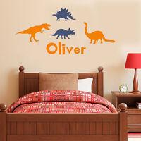Wall Stickers custom name dinosaur world vinyl decal decor Nursery kid removable