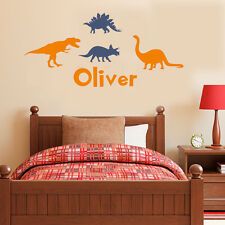 Wall Stickers custom name dinosaur world vinyl decal decor Nursery kid removable