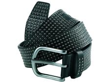 NEW RRP £75 Police PASLGA07-005M F-Rivet Black Anti Silver Belt M