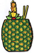PINEAPPLE DRINK - HAWAII - TROPICAL - COCKTAIL - Iron On Embroidered Patch