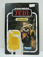 Vintage Star Wars ROTJ Wicket 77 Card Back Unpunched Kenner 1983 (Pg115B)