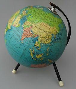 globe terrestre Cartes Taride, carton bouillie ,pieds tripodes des années 1960