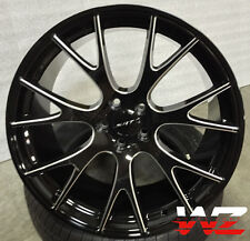 """22"""" Hellcat Style Wheels Black Milled Rims Fits Dodge Magnum Charger Challenger"""