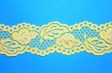 1,85 €/m 2m punta elástica 42 mm de ancho brillo efectos amarillo banda cenefa coser