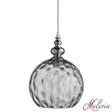 rétro Luminaire suspendu verre Ø25cm Vintage Argent Chrome Transparent Lampe