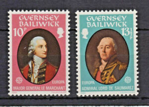 2 Timbres Stamps Île GUERNESEY 1980 YT 199/200 MI 204/5 Europa CEPT Neufs MNH *