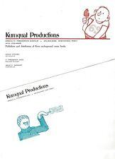 KUMQUAT PRODUCTIONS 1970 KITCHEN SINK PRESS  STATIONERY LETTERHEAD & ENVELOPE