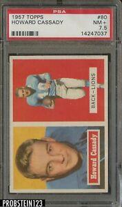 1957 Topps Football #80 Howard Cassady Detroit Lions PSA 7.5 NM+