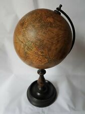 Antique Vintage Geographia 6 Inch Terrestrial Globe c.1920 with Brass Meridian