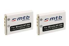 2 Akkus NP-900 für BenQ DC C500, C700, E43, E53, E63, E720, E820, E1000