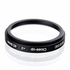 40.5mm +2 High Definition Close Up Macro Lens Sony Canon Nikon DSLR + FREE Pouch