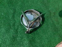 Vintage 1950's outside rear view mirror octagon shaped with large V on back 1955